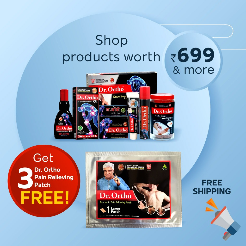 ⭐️⭐️ LIMITED TIME OFFER⭐️⭐️  👉 Hurry Up!! Shop Dr. Ortho Ayurvedic Joint Care Products worth Rs. 699/- & More, and Get 3 Dr. Ortho Pain relieving Patch FREE  ➡️ FREE SHIPPING   Grab the Deal Now  👉👉 Buy one here: https://t.co/kPCLeJLjFX https://t.co/24ndMVvOiN