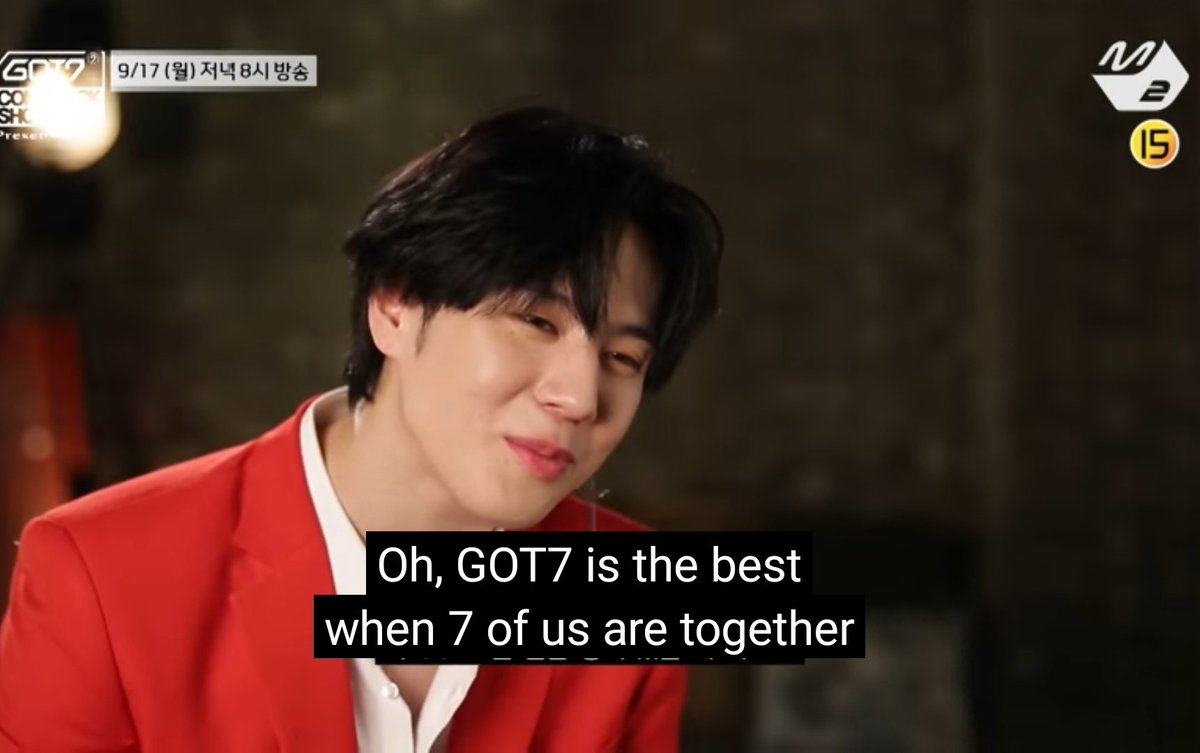 Yugyeom saying it's better when got7 it's all 7 members from 2018-2020 #GOT7  @GOT7Official<br>http://pic.twitter.com/zcHRsIE2J6