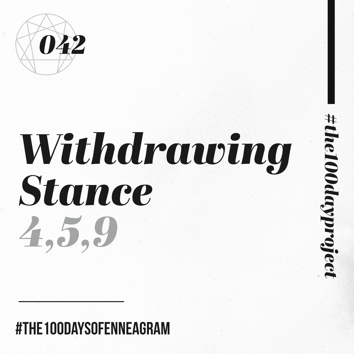 042/100 | Withdrawing Stance (4,5,9) Listen at https://t.co/MBo795Vt8V  Still a day behind. Working on it.  #the100dayproject #the100daysofEnneagram #enneagram #stances #relationships https://t.co/WMkTP0Hkgi
