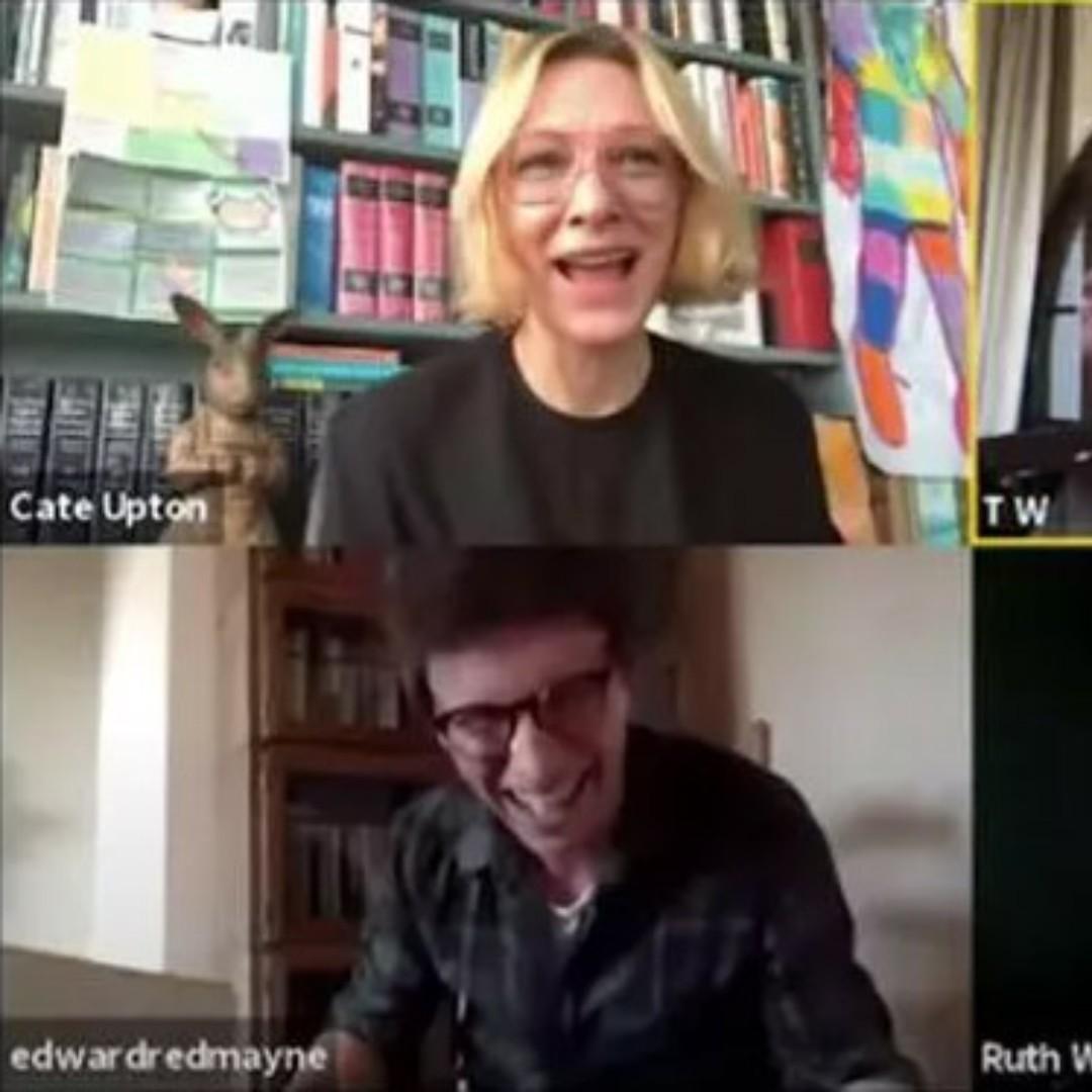 Taika Waititi, Chris Hemsworth and Cate Blanchett do virtual reading of James and the Giant Peach.  More at https://www.cate-blanchett.com/2020/05/19/taika-waititi-chris-hemsworth-and-cate-blanchett-do-virtual-reading-of-james-and-the-giant-peach/…  #CateBlanchett #TaikaWaititi, #RoaldDahl #JamesandTheGiantPeachpic.twitter.com/2b9egrjXES