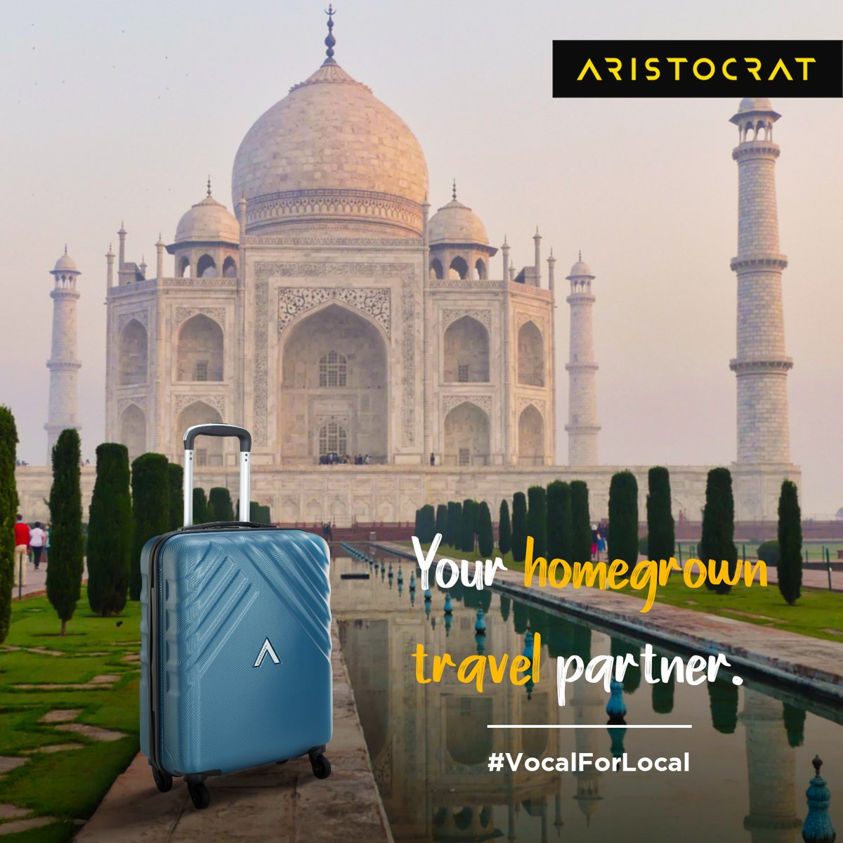 Let's go #VocalForLocal with the premium collection of Aristocrat polycarbonate bags, your #AtmaNirbhar travel partner. #UnpackYourDreams