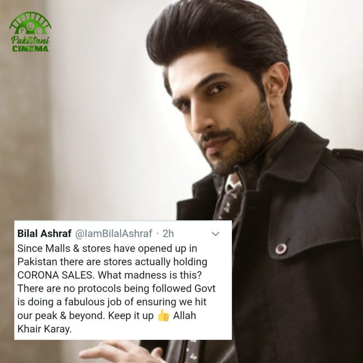 Bilal Ashraf calls out stores holding #CoronaSales and Govt which in his view is leaving no stone unturned to ensure Corona hits its peak!! @IamBilalAshrafpic.twitter.com/y85ItVMgXR