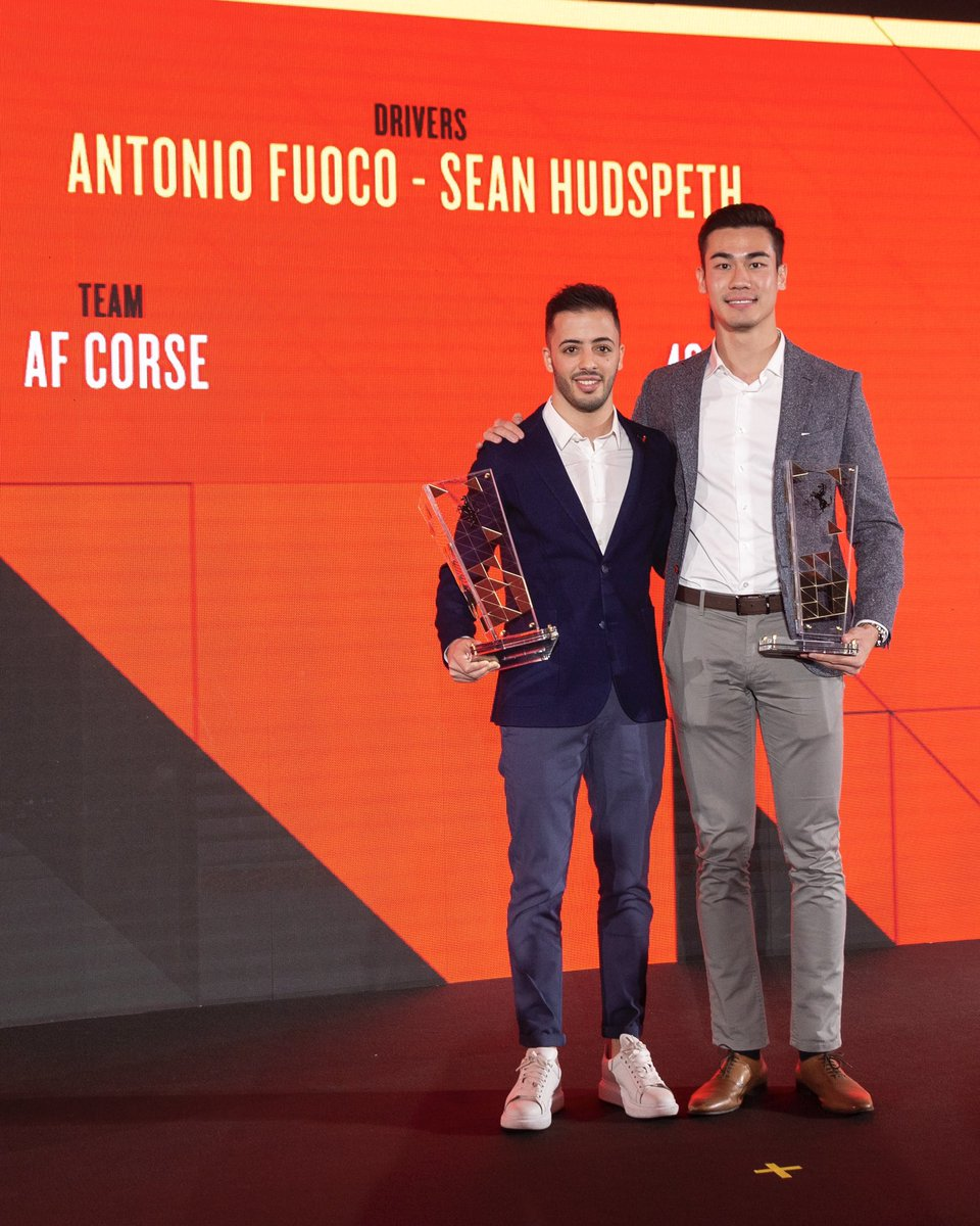 #Tb to a pretty special evening in February this year!! Happy birthday mate @Anto_Fuoco #FerrariFactory #CompetizioniGT #CentroStile #AwardsCeremonypic.twitter.com/uD8kRfX3aQ