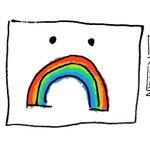 Image for the Tweet beginning: My #SadRainbow cartoon from the