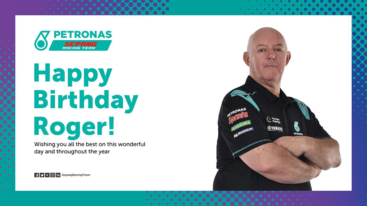 Happy Birthday to Roger, our Logistics Manager!! Hope you have a lovely day! 🥳  #MotoGP | #PETRONASmotorsports | #SepangRacingTeam | https://t.co/N0xKS5FHPc