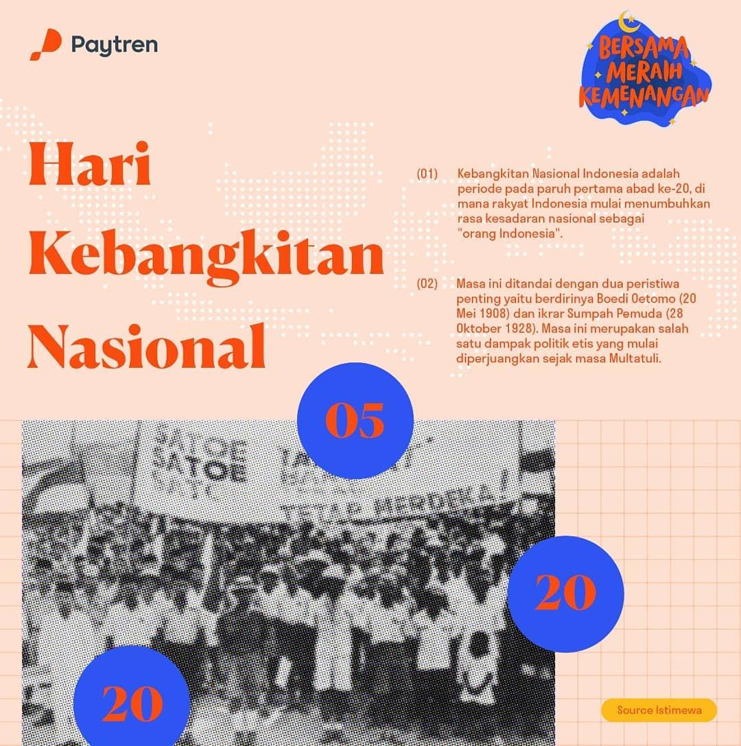 Selamat Hari Kebangkitan Nasional 2020.  Bangkit untuk bersatu, bangkit untuk Indonesia. Mari bangkit untuk terus maju demi masa depan Indonesia yang lebih baik.  #harkitnas2020 #Paytren517 #ConnectingYourLife #PokoknyaPaytreninAja #HijrahChallengepic.twitter.com/TVvMA4KZ8g