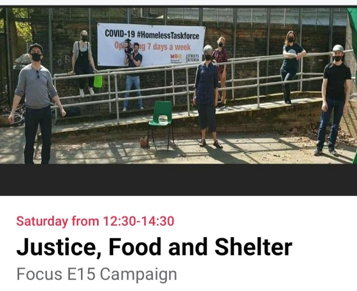 JUSTICE FOOD & SHELTER The Covid-19 Homeless Taskforce Virtual Street Stall Sat 23rd May 12.30-2.30pm Guest speakers @our_MoH join us on zoom facebook.com/events/s/justi… #Homeless #housing #justice #food #shelter #Covid_19