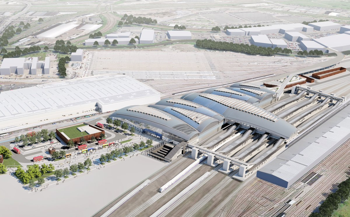 Planning approval has been granted for the largest new-build #railway #station in the UK - #HS2 Old Oak Common Station. Building a new railway station on this scale and size will be an incredible achievement for #British #engineering. Find out more: http://ow.ly/2wZe50zKWzXpic.twitter.com/DP7CAm3okR