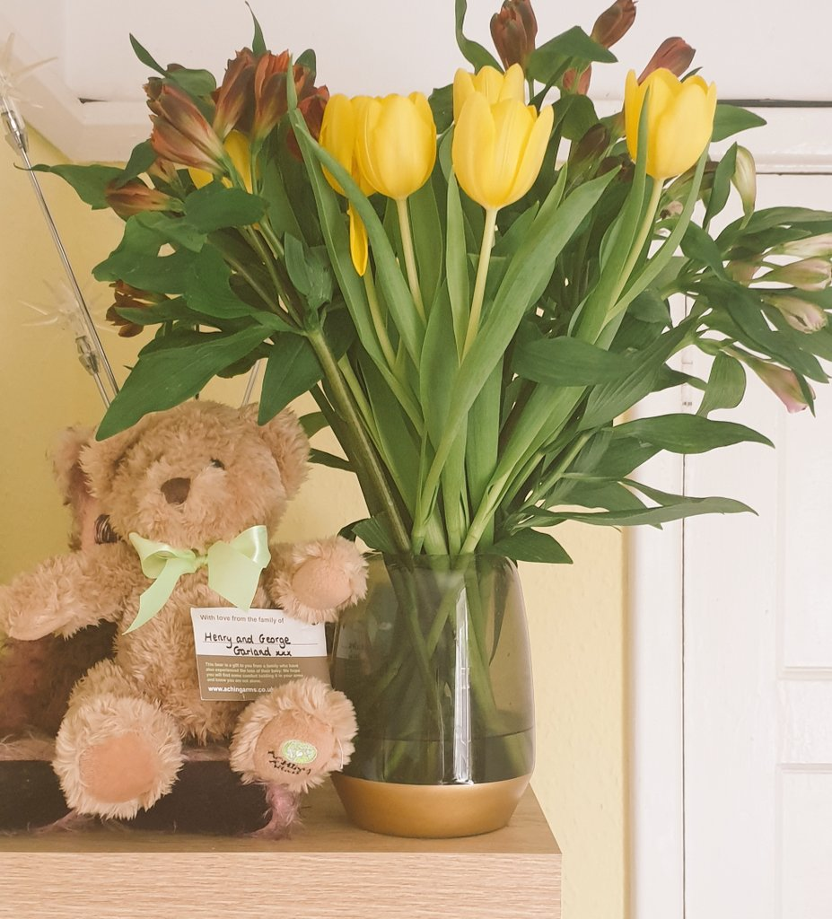 @AchingArms provide comfort bears kindly donated from bereaved families and excellent support for those who need it. We have a bear which provides us with amazing comfort on lonely days since losing Harry #MentalHealthAwarenessWeek #KindnessMatters #babyloss #stillbirth