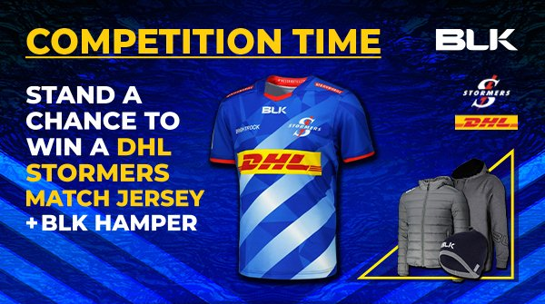 ⚡COMPETITION TIME . Win a DHL Stormers Match Day Jersey + A BLK Hamper!🌪 . There's only 1 prize up for grabs so you better hurry💨 . 1. Click the link below 2. Fill in your details 3. Get more entries by sharing with your friends . Enter: https://t.co/fsztel1HEJ https://t.co/PVYJfrhH5i