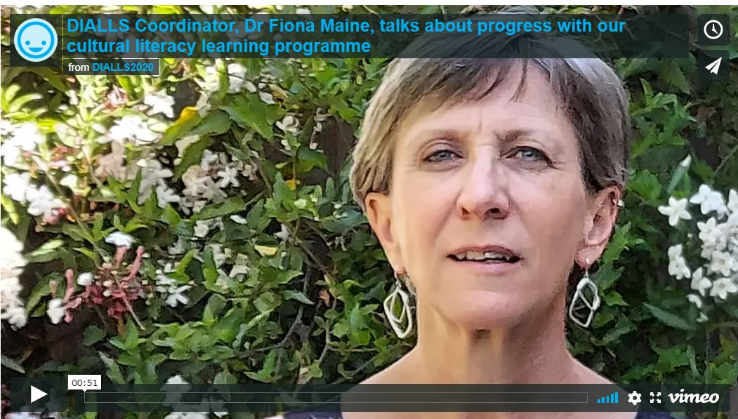 In our new video @dialls2020 Coordinator Dr Fiona Maine @fiincam talks about progress with our cultural literacy learning programme and its benefits for students returning to school after lockdown. https://t.co/o10yC9Rnfu @DiallsLT @DIALLS_cy @diallspt @REA_research @CEDiR_Group