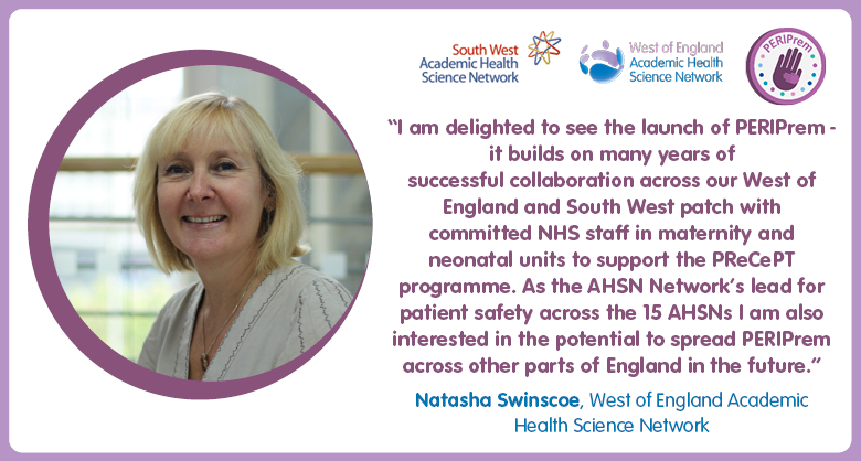 Today we launch #PERIPrem a collaboration between @WEAHSN & @sw_ahsn to pilot a new care bundle to reduce rates of brain injuryand death in #premature newborns. Find out how we're working with local #NHS trusts in the region to trial the innovation https://t.co/H2Qnpz1HII https://t.co/tLutRAuAe5