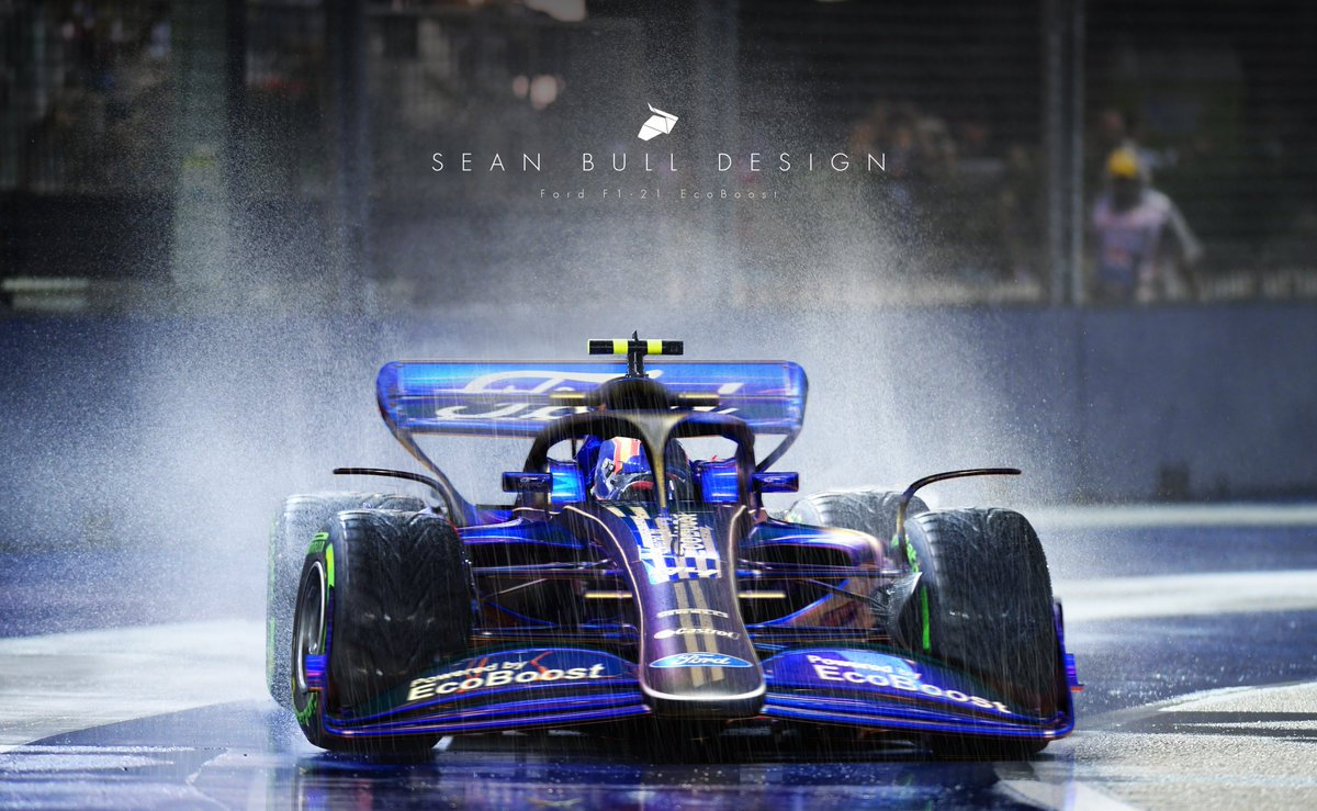 Ford F1 2022 Livery Concept and on track visualisation  3D Model by @RaceSimStudio   Cant wait to see the next gen cars in action  #F1 #Formula1 #LiveryDesign https://t.co/uQYMTWWN9T