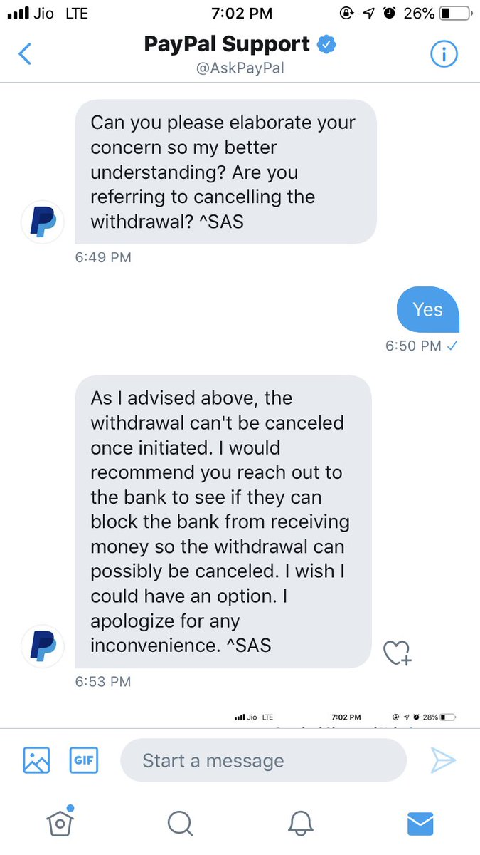 @AskPayPal @StanChartIN @StanChartHelpIN see paypal asking to contact Standardchartered and Standardchartered asking to contact PayPal noone cares about customer experience pic.twitter.com/9dZe8qeZOR