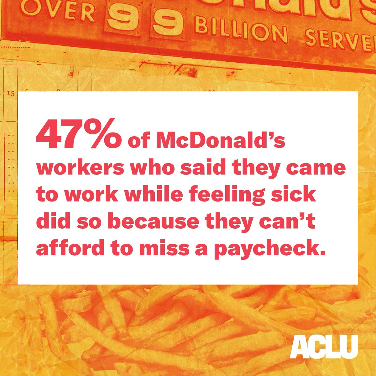 No one should have to choose between their work and their paycheck. Period.