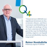 Image for the Tweet beginning: CEO Rainer Hundsdörfer comments the