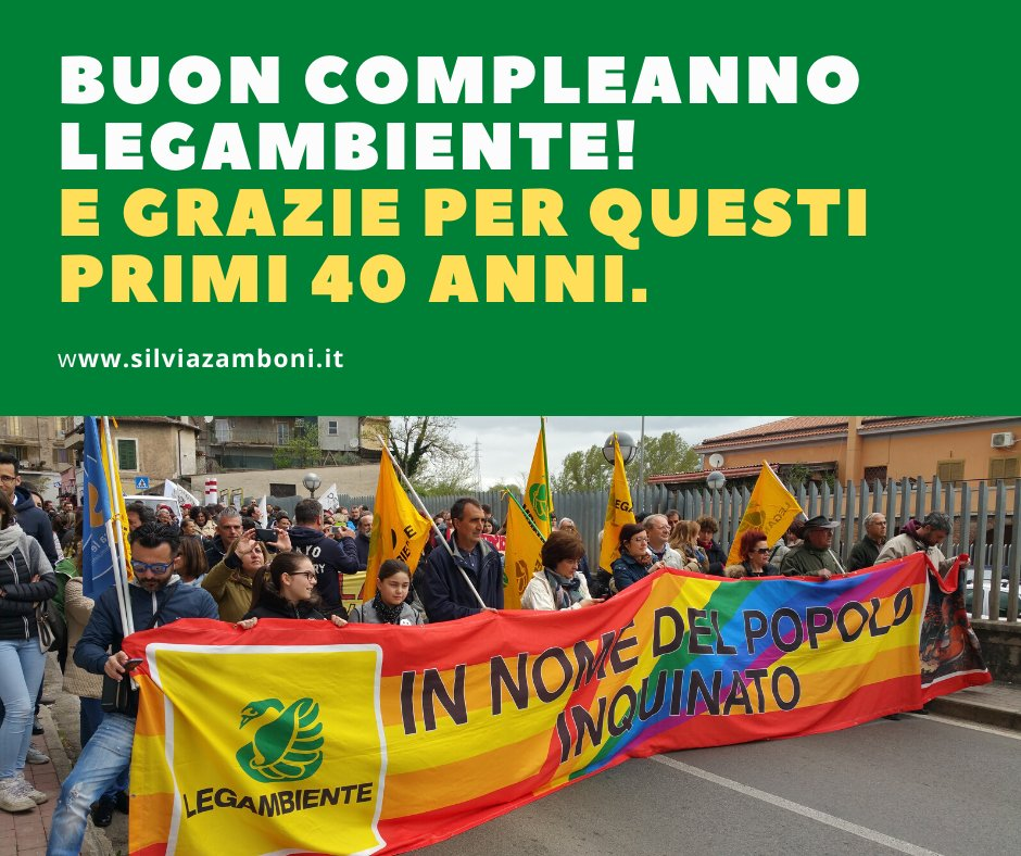 Un nuovo articolo (Buon compleanno Legambiente! E grazie per questi primi 40 anni.) è su Silvia Zamboni - silviazamboni.it/buon-compleann…