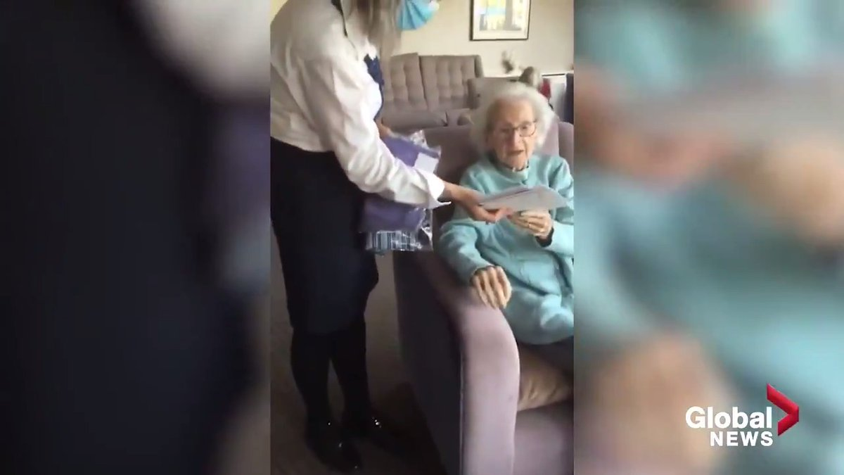 Doreen Adams was surprised with a family visit to help celebrate her 104th birthday. #canadatogether ALSO READ: bit.ly/2WN2zKx