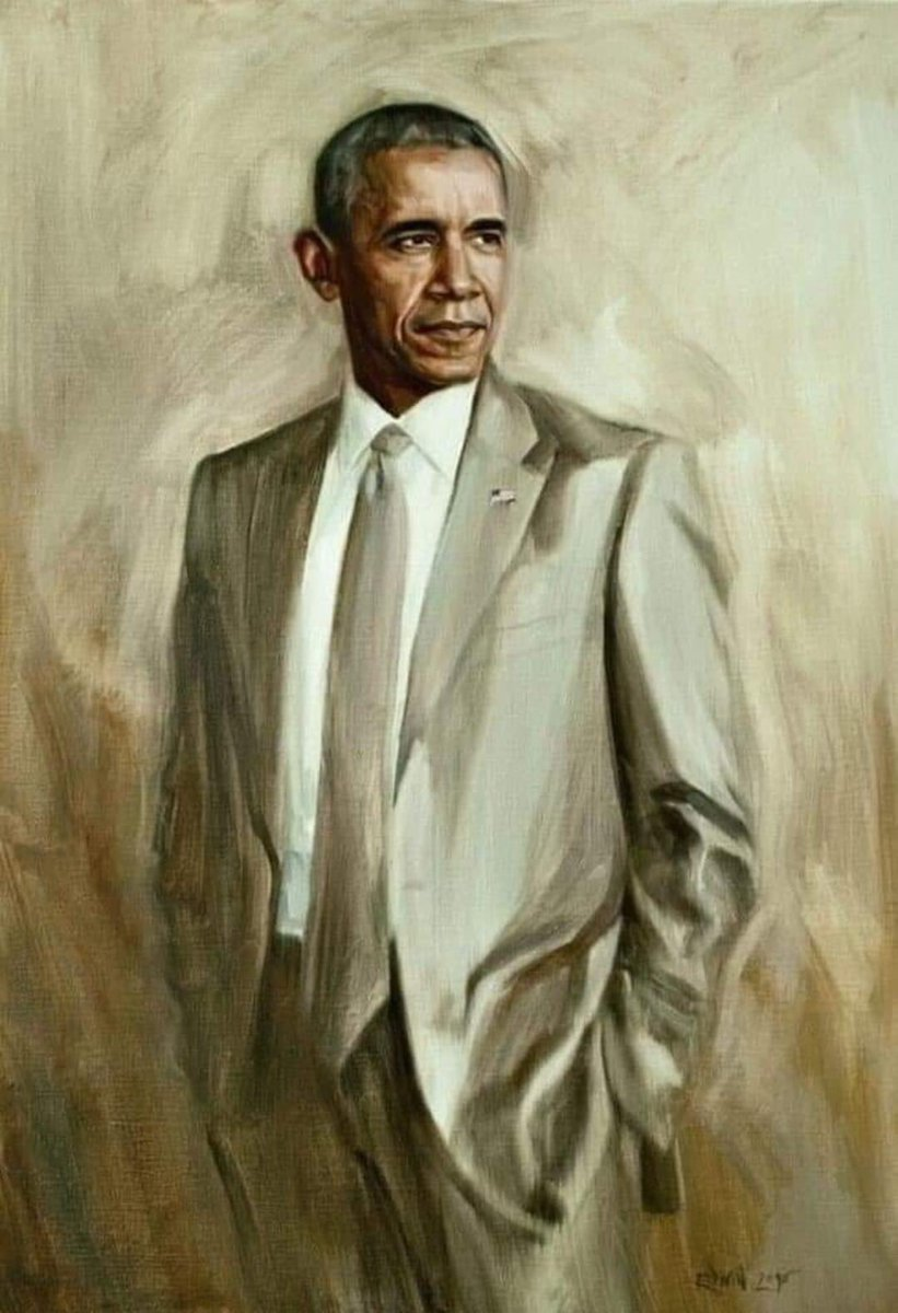 From Michael Bartoli: Since there will be no formal unveiling of President Obama's portrait in the White House, let's make this one go viral. Share far and wide! @realDonaldTrump #shareobamasportrait #44portrait