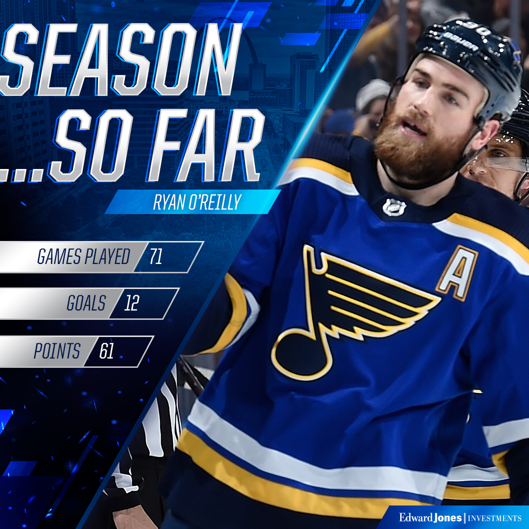 Ryan O'Reilly was having himself another good year. #stlblues
