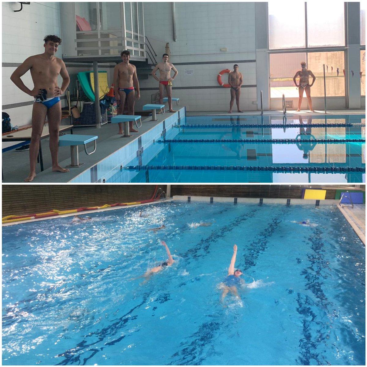 I també tenim alguns dels nois i les noies becades de la FCN de #waterpolo 🤽♀️ 🤽♂️ entrenant al @CARSantCugat i a la Blume  #moltcontents 👏🏼👏🏼👏🏼 https://t.co/6OPSRhYApD