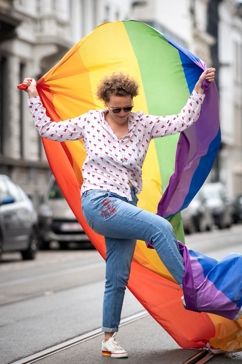 No Pride, but... as an alternative our friend Bob Reijnders has created a colourful serie of portraits of people who would have normally gone to the Pride this year. #pride #loveislove #LGBTQ #belgianpride #WeCare #PrideMonth https://t.co/j3Ii3lOfWA