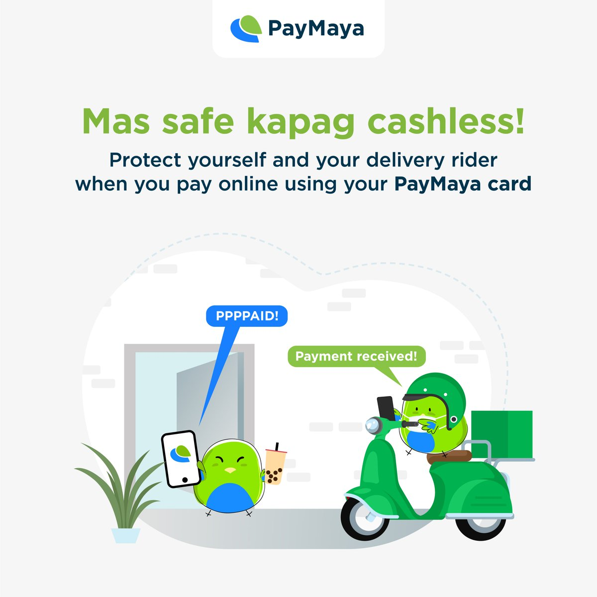 Let's all do our part in keeping the people around us safe and healthy! ​🚲  When ordering food and essentials online, go for the safer, more convenient, and more sulit way to pay! #DontPayCashPayMaya https://t.co/aaUXCEdLhU