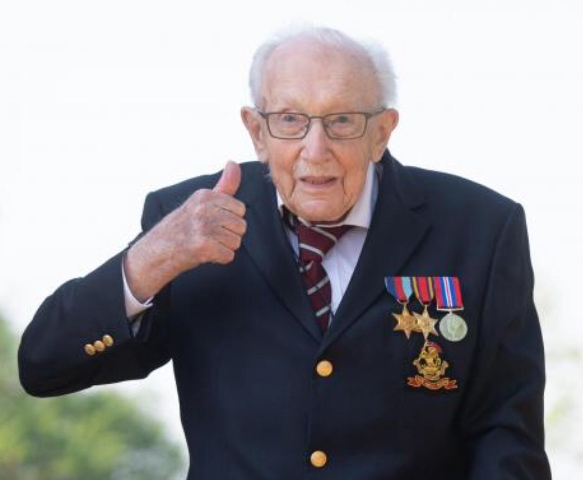 Captain Sir Tom Moore!!! What amazing news to wake up to today! #SirTomMoore #proud #fundraising pic.twitter.com/YMVhBg9eB3