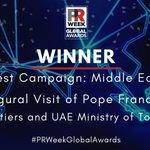 Image for the Tweet beginning: The #PRWeekGlobalAwards winner for Best