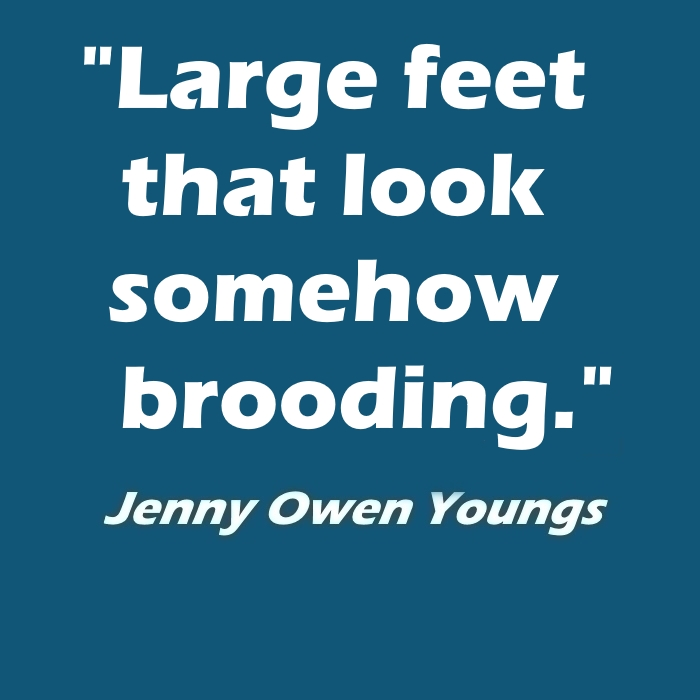 Large feet that look somehow brooding. - Jenny Owen Youngs @jennyowenyoungs @kristinnoeline @bufferingcast #BuffyTheVampireSlayer
