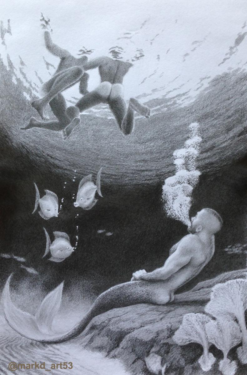MerMay  #drawing #pencildrawing #merman #underwater #illustration #gayart #nakedmen #menswimming #gettingexcited #gaymerman pic.twitter.com/LupCITKt9x