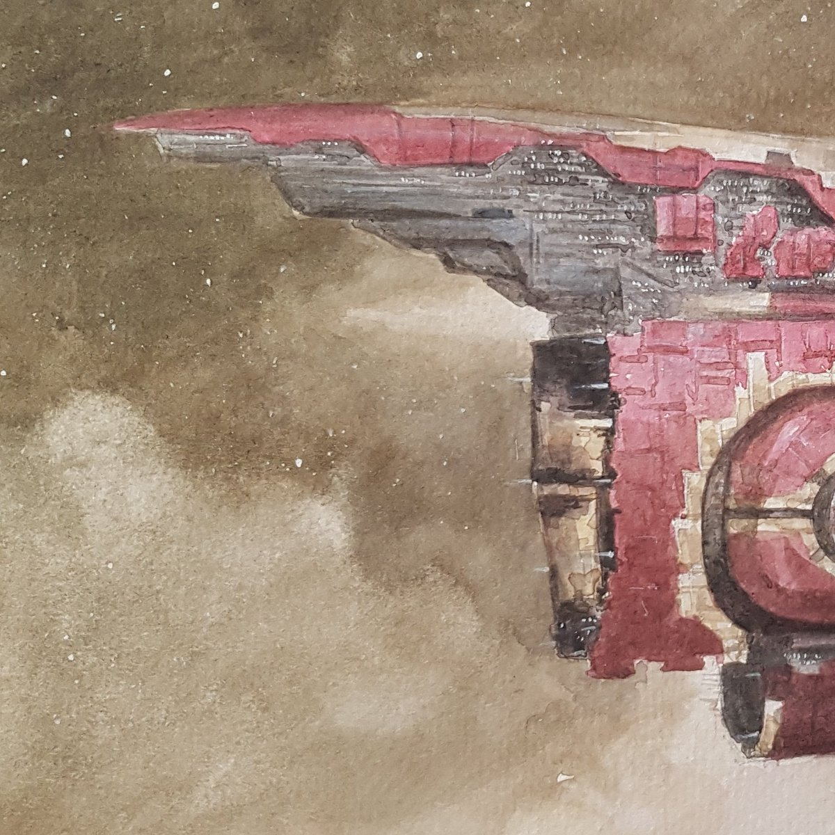 A reminder that this unique, hand painted watercolor art is now available on auction, to bid just visit : https://cutt.ly/Art-Auction And is fully licensed by CCP!! #eveonline #tweetfleet #spaceships #spaceshipsketch #spaceshipart #scifiartwork #scififantasy #scifidaily #dailyscifi pic.twitter.com/lgDGWneoOk