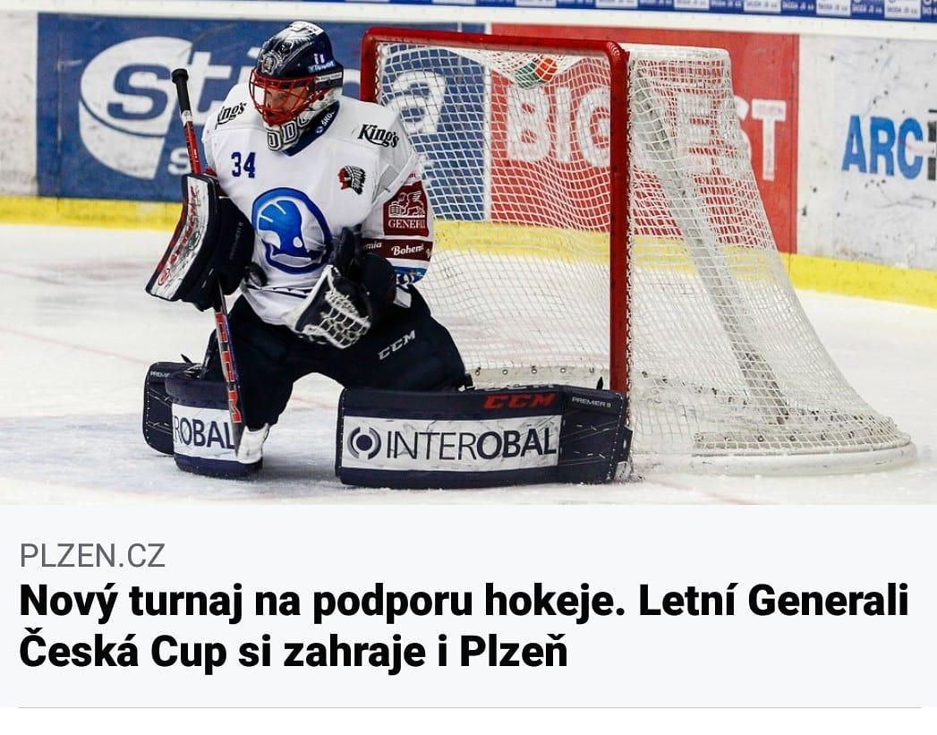 Nový #turnaj na podporu hokeje. Letní Generali Česká Cup si zahraje i Plzeň  Hokejové #zprávy portálu #Plzeň CZ >>> #Plzeň_hokej >>> https://t.co/YPlTkVWBvP https://t.co/9BGnGUbLG5
