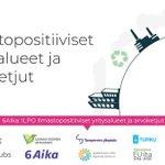 Image for the Tweet beginning: 6Aika: ILPO ilmastopositiiviset yritysalueet ja