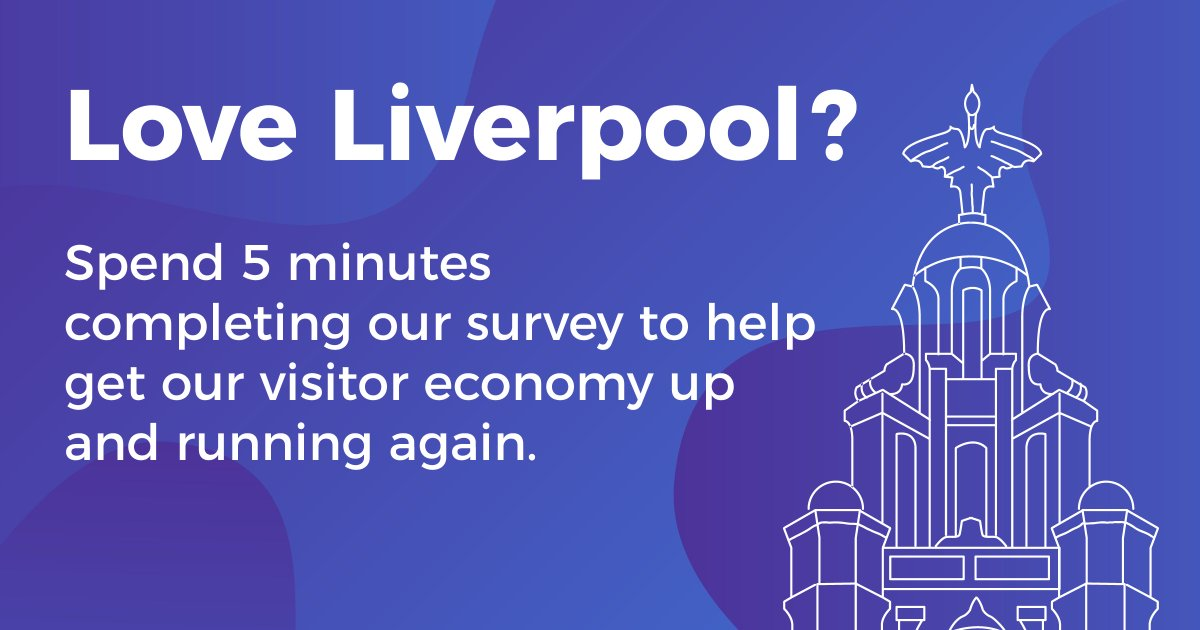 Love Liverpool? @VisitLiverpool needs your help! ✨  They're looking to get local people's views to help get the visitor economy up and running again. Take their quick 5 minute survey 👇  https://t.co/SoOoNwI0ix https://t.co/pupXI3rprF