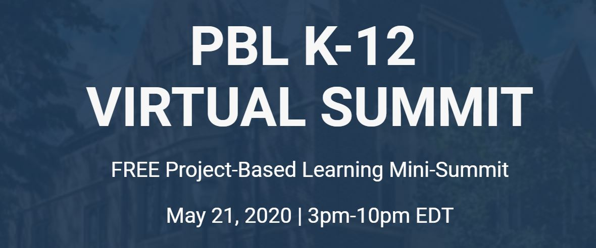 Free Project Based Learning mini summit for K-12 tomorrow (5/21) pblk12.com #edtech #PBL