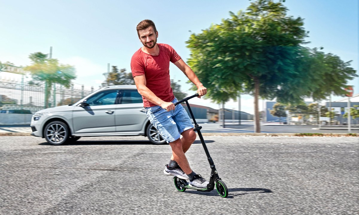 Life's a Scoot! We've developed a #SimplyClever foldaway scooter for Kamiq and Scala #SKODA