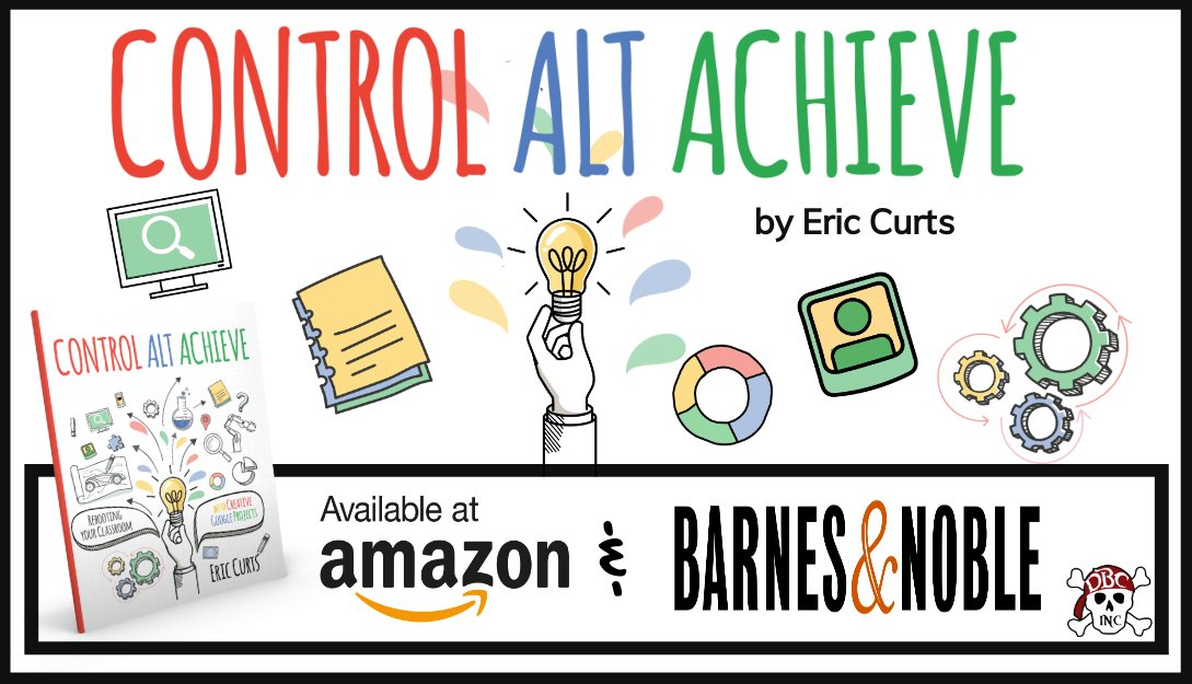 📕 My book Control Alt Achieve: Rebooting Your Classroom with Creative Google Projects is officially available today! amazon.com/Control-Alt-Ac… Cant wait to see what your students create! #ControlAltAchieve #tlap #dbcincbooks #GSuiteEDU #GoogleEDU #edtech