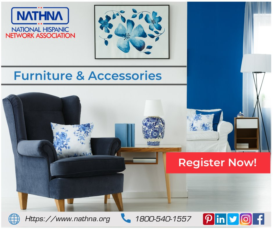The easiest way to find out deals and local businesses related to furniture and accessories is on Nathna. Nathna provides a list of professional dealers, You can list your business, become a Hispanic member. Visit nathna.org #furnituredesign #accessories #Nathna