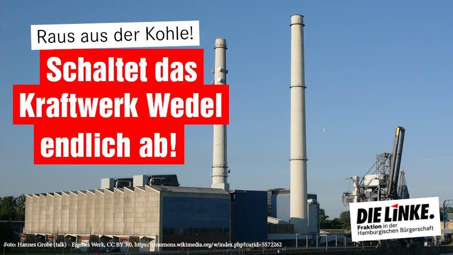 Der @bund_hh hat heute vor dem Rathaus für die schnelle Abschaltung des #Kohle|kraftwerks #Wedel demonstriert. Wir schließen uns dem an. Keine weiteren Verzögerungen! #Kohleausstieg jetzt! #Klimaschutz #Klimagerechtigkeit linksfraktion-hamburg.de/kohlekraftwerk…