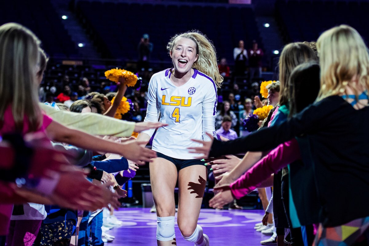 Join Whitney Foreman as she takes over our Instagram Story (@lsuvolleyball) today!