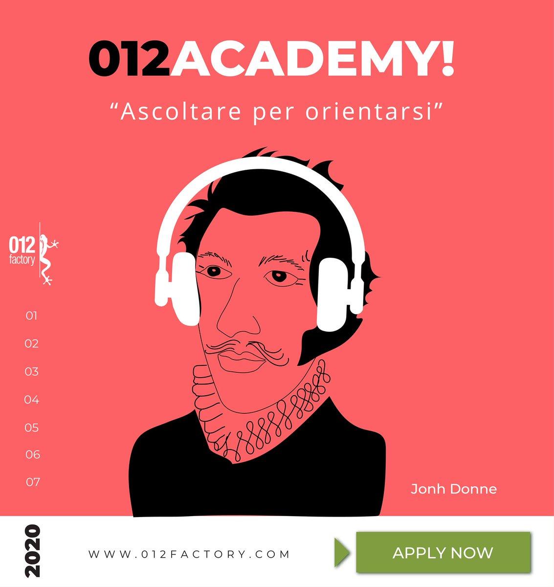Invia la tua candidatura per la settima edizione dell'Academy imprenditoriale 012 e sarai ricontattato per un colloquio! https://t.co/FGzBLuEFBl https://t.co/ZYZiGX6KRt