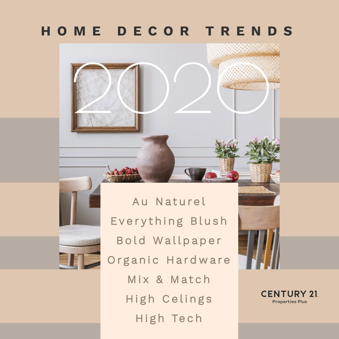 Does your home have these home decor trends? Are you looking to add any of these items in 2020? #realestate #charlestonrealestate #homedecortrends #2020decortrends https://t.co/VFi060JZXa