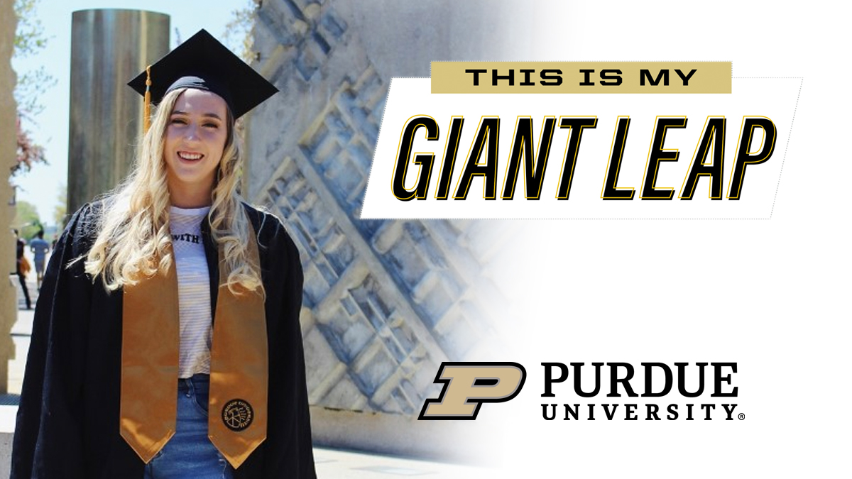 #TheNextGiantLeap for 2020 senior Abbey Gohmann is a Ph.D. in organic chemistry @UToledo. Congrats! #PurdueWeDidIt #LifeatPurdue #PurdueUniversity