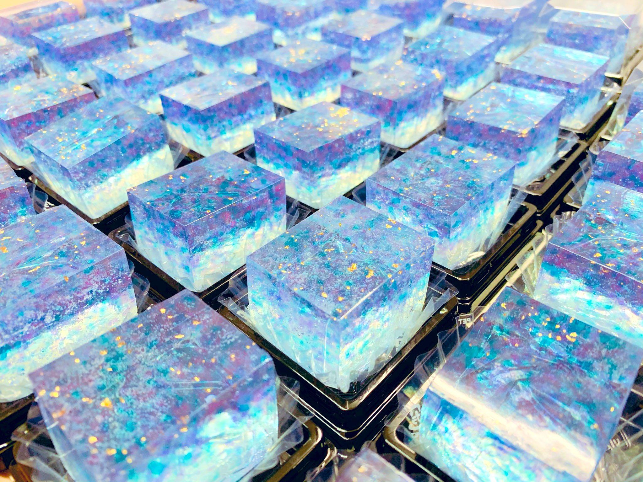 「青の調べ」上生菓子・青く宝石のような美しさ!!