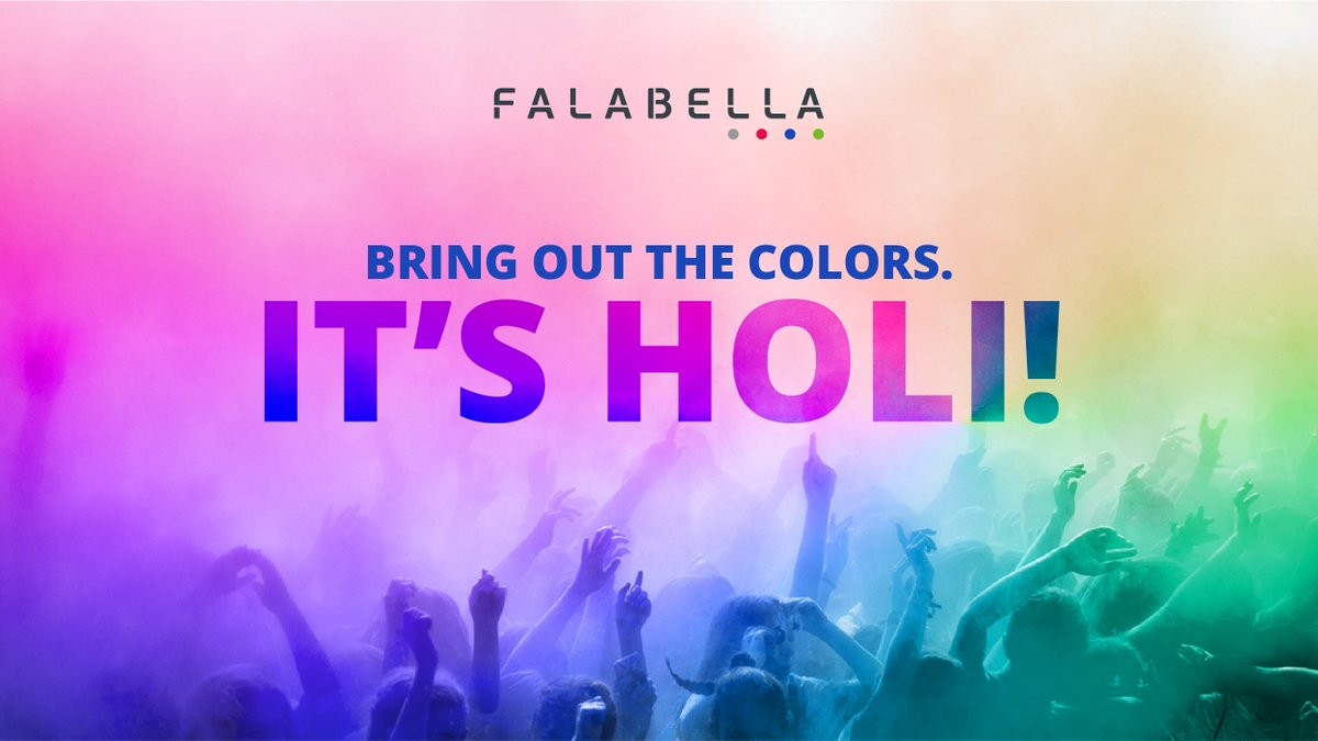 Falabella wishes you all a happy and colorful Holi. Go ahead and spread the colors of joy this festive season, with your loved ones!  #FalabellaIndia #HappyHoli #FalabellaTechnologies #OurStory #Legacy #Innovationpic.twitter.com/bNNIRdwG3I
