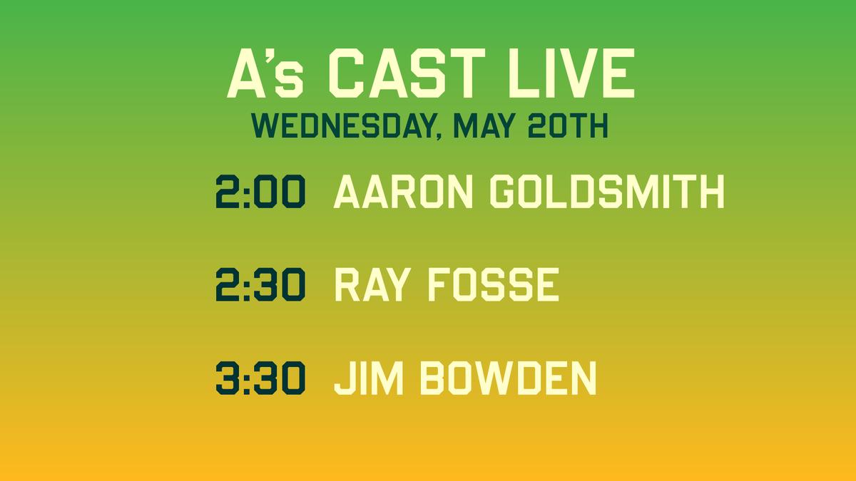 #AsCastLive will be streaming from 1-4pm w/ @townsendradio!  GUESTS: @jay_jaffe 1:30 @HeyGoldy 2:00 @Athletics Ray Fosse 2:30 @JimBowdenGm 3:30  https://t.co/HGAxc8gMli 📻 https://t.co/HBmkHksXh1