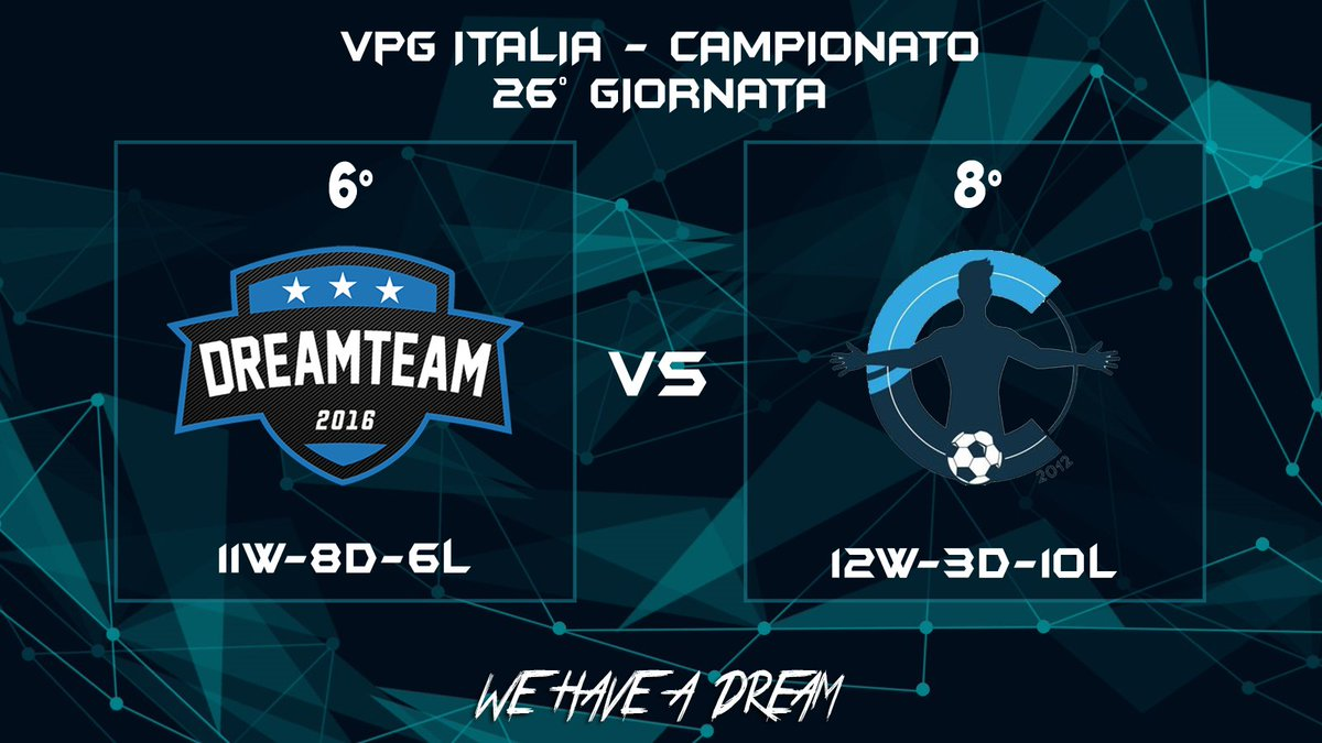 Matchday:  | @VPG_Italy  | @ClubItalyCIT  | 22:45  #WeHaveADream #GoDreamers pic.twitter.com/u9IcqaM0Wl