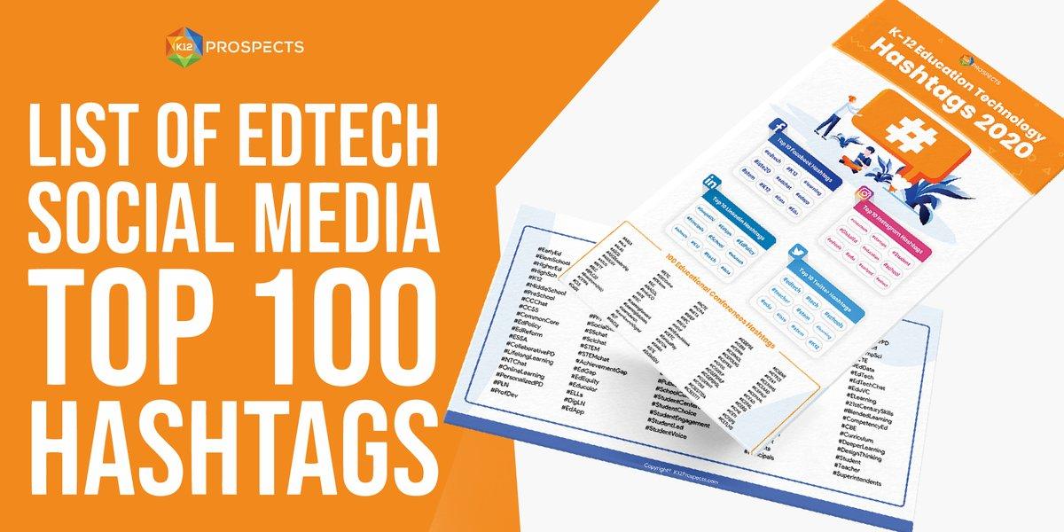 Social Media Hashtags for EdTech Start-Ups https://www.k12prospects.com/LP/Edtech-Hashtags-2020/K-12-Education-Technology-Hashtags-2020.html?utm_source=twitter&utm_medium=posting-image&utm_campaign=k-12-education-technology-hashtags-2020&utm_content=textlink… #branding #marketingdigital #digitalmarketingpic.twitter.com/UHC7hDpoln