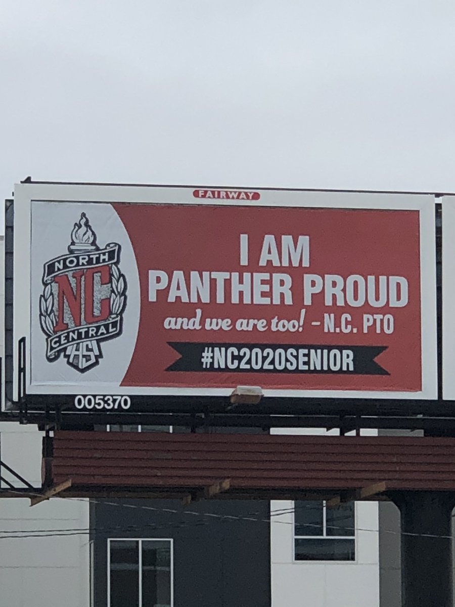 The signs on Westfield (red) and Keystone (Black) look great. Proud of our Panthers. https://t.co/2LlNTJg0Lj
